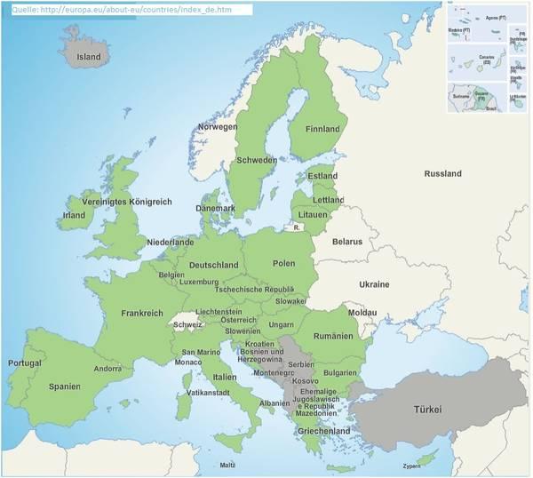 eu staaten karte EU Karte